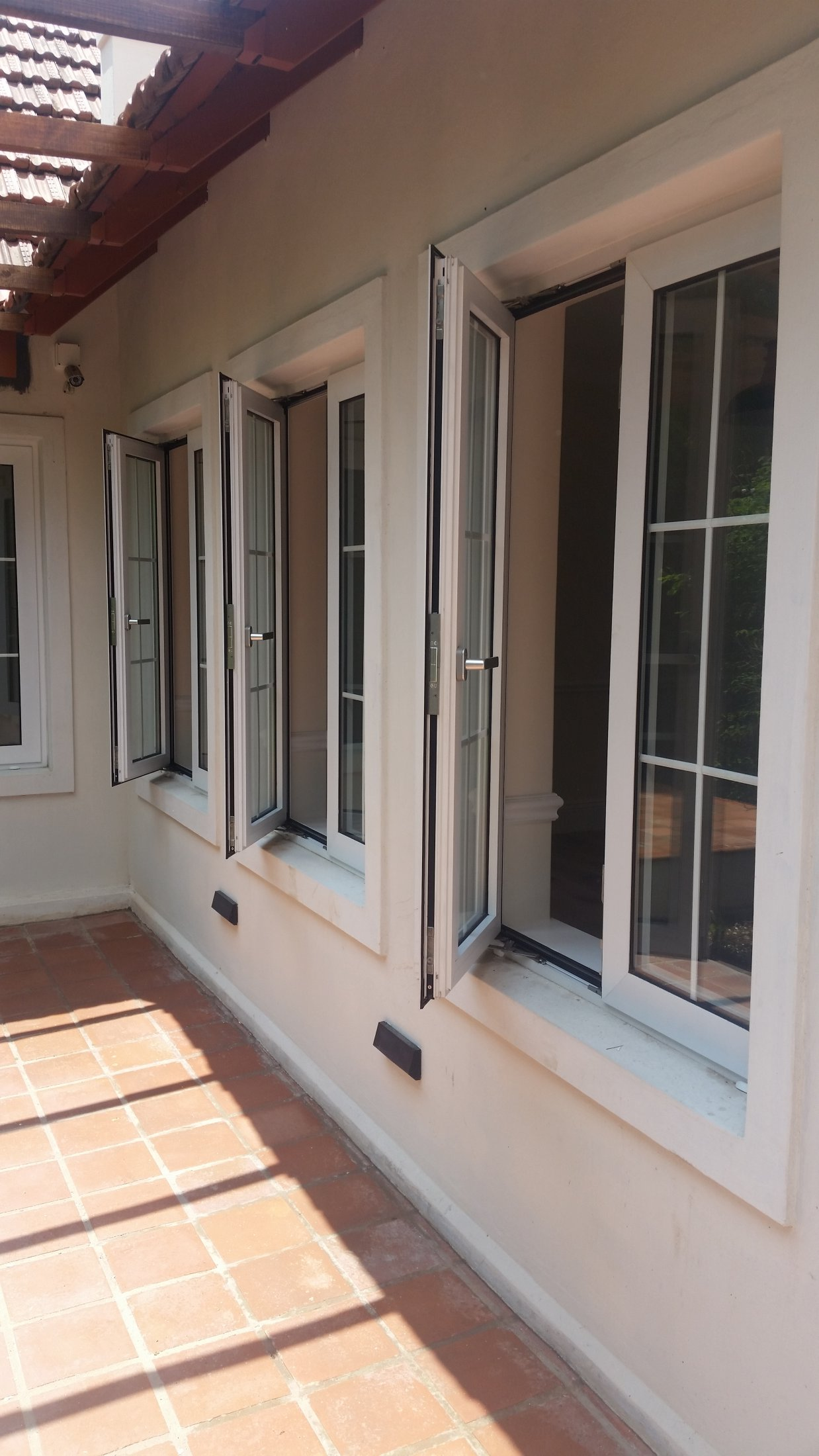 Side Hung Double Glazed Cottage Style Windows Without Mullion