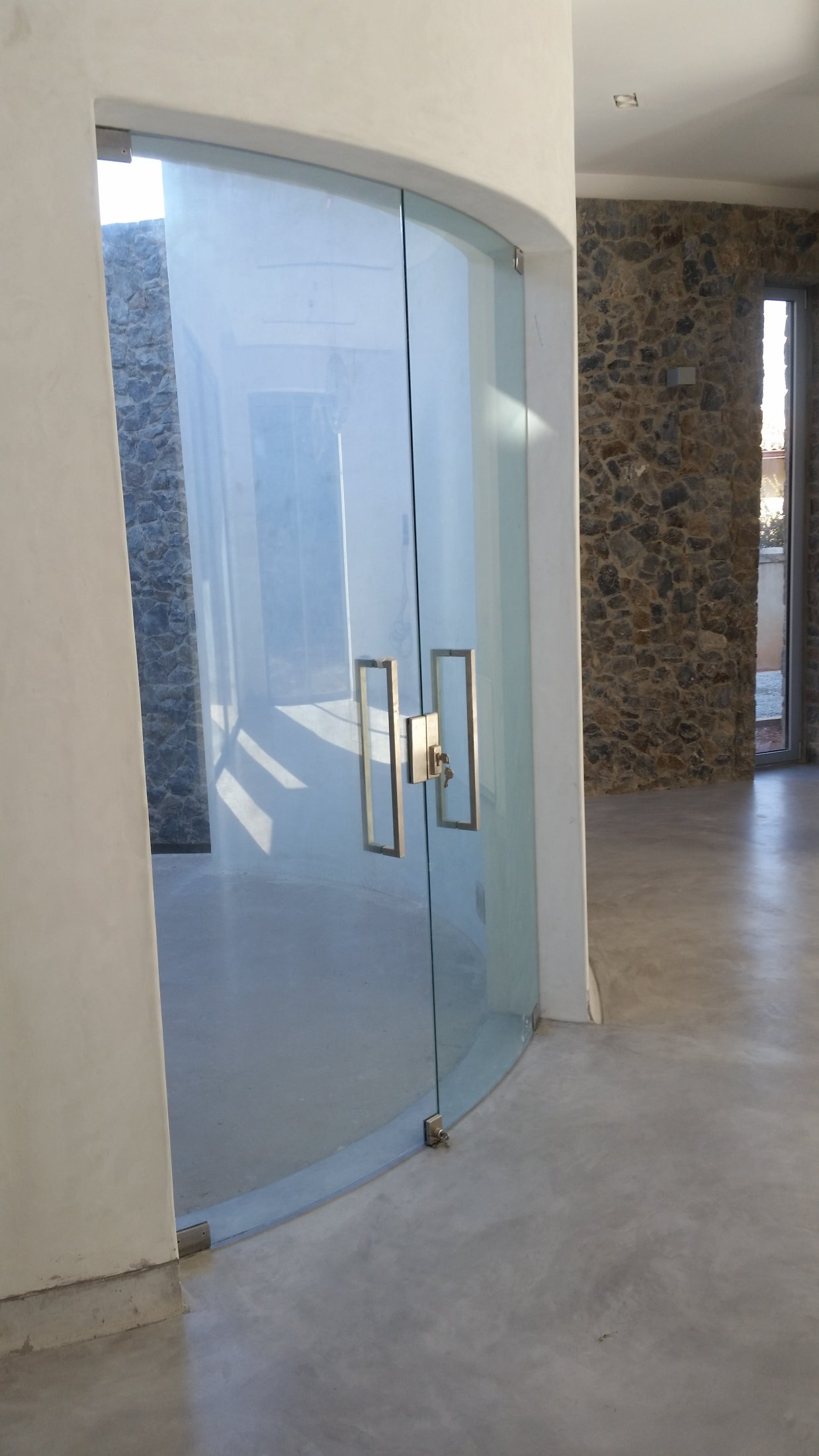 Curved Glass Main Entrance