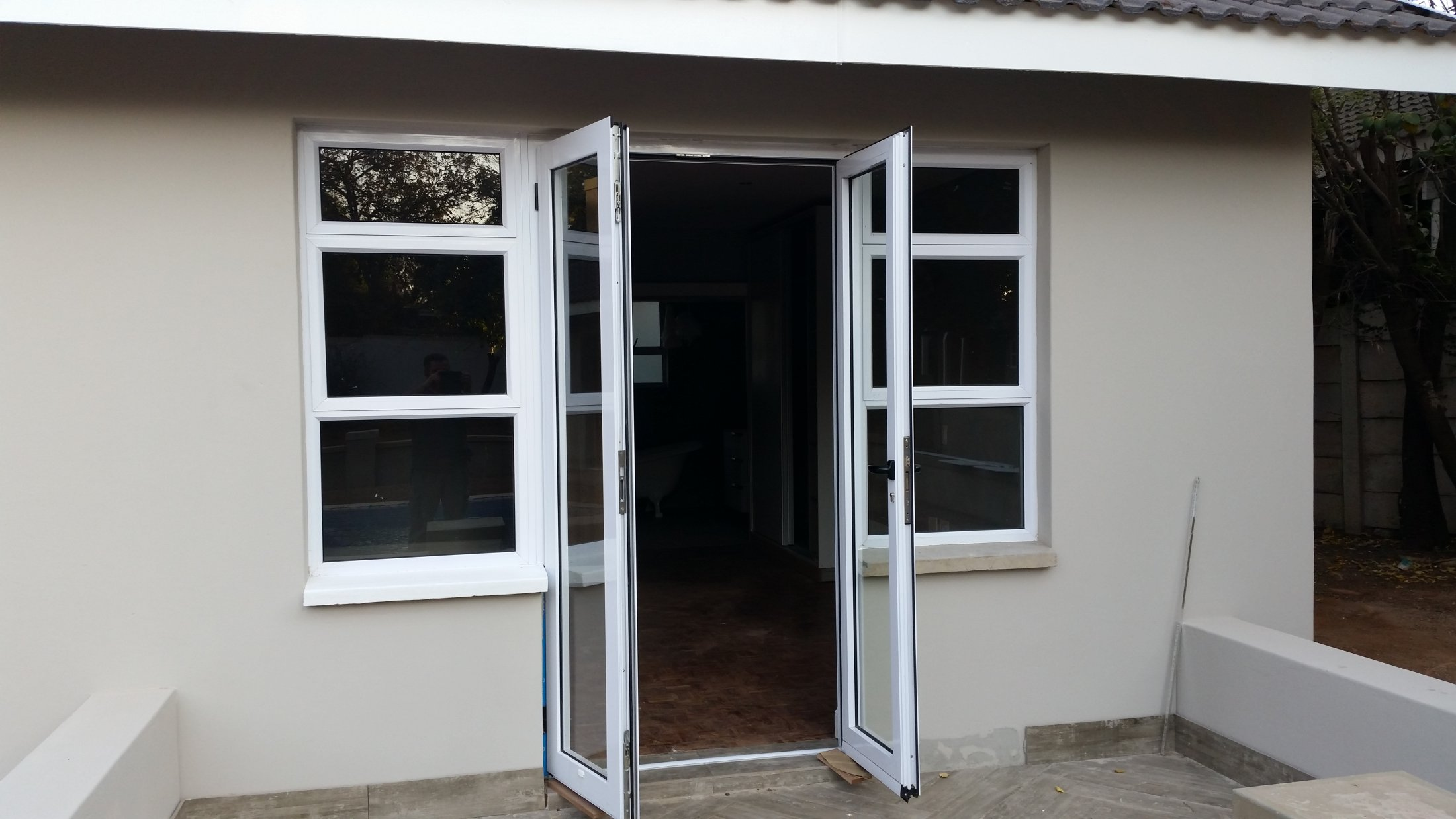 Out Opening Double Glazed Door
