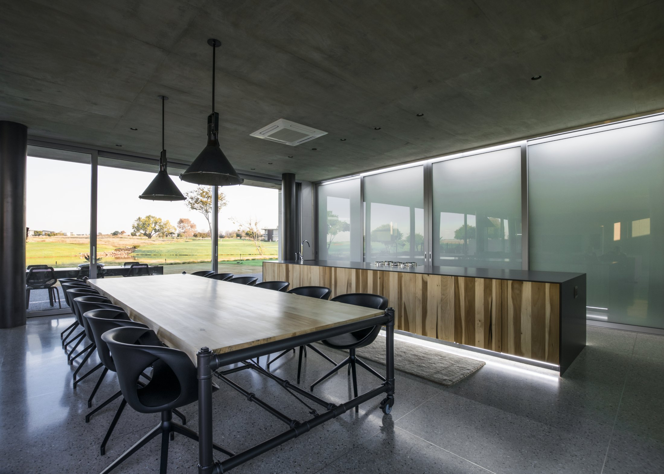 "LIFT & SLIDE DOUBLE GLAZING SLIDING PANELS IN SERENGETI GOLF ESTATE ""' KITCHEN WARDROBE '"""