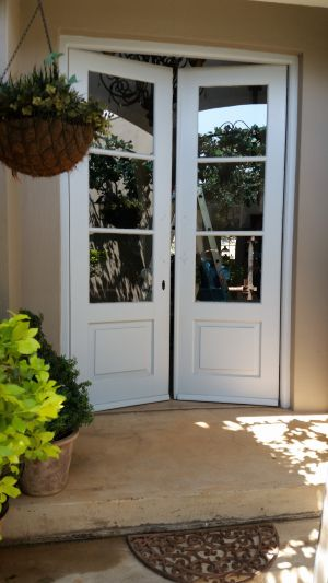 Traditional Cottage Style Hinged Door . Project WoodHill Estate.